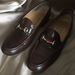 Authentic Gucci Loafers Horsebit Burgundy